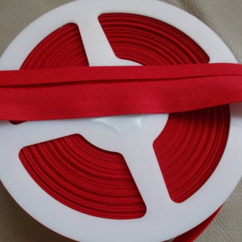 25mm Wide Polycotton Bias Binding - Red