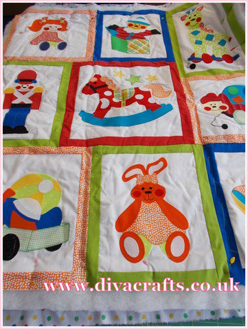 babies quilt customer project diva crafts