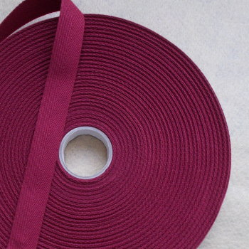 Herringbone Tape 20mm Wide - Wine