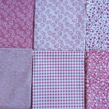 Fat Quarter Bundle - Dusky Pink Mix