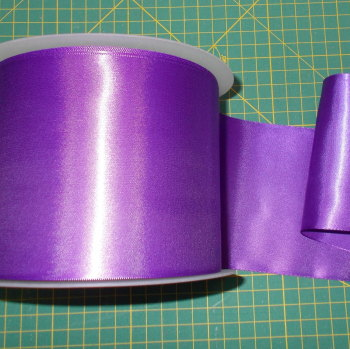 Sash Ribbon 10cm Wide  - Purple