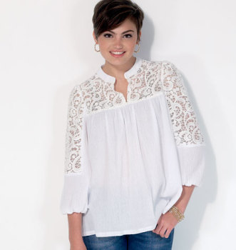 McCall's 7095 tops Sewing Pattern Sizes XS-SML-MED