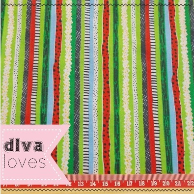melon stripe fabric diva loves week 113