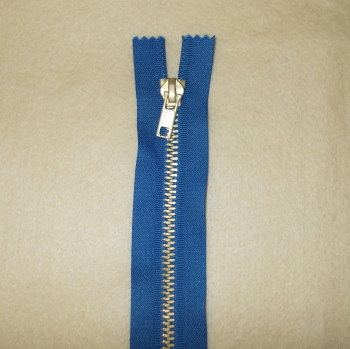 8 Inch Zip Metal - Blue