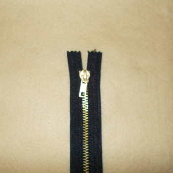8 Inch Zip Metal - Black