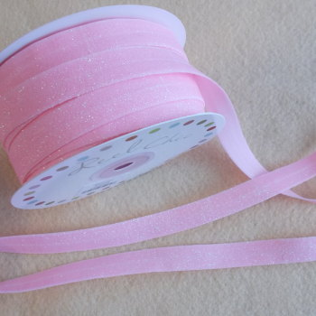 Headband Elastic - 16mm wide - Glitter Baby Pink