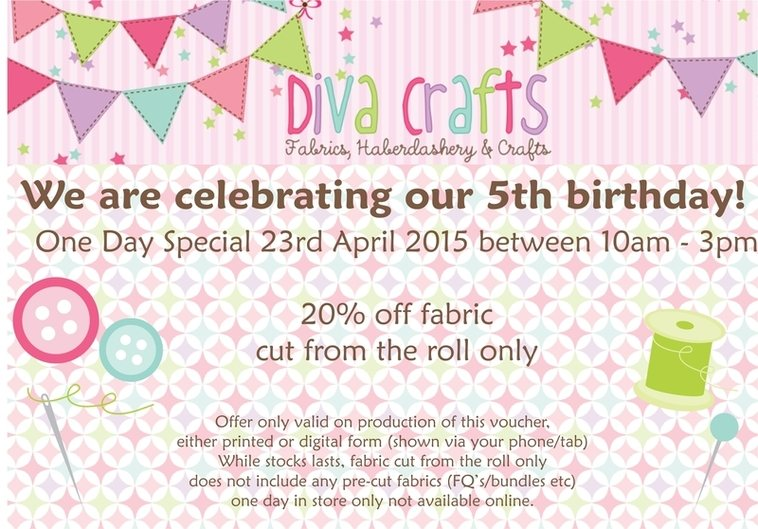 diva crafts birthday flyer