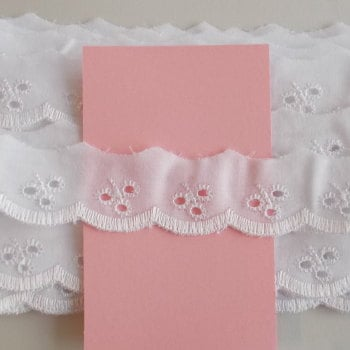 Embroidery Anglaise - Flat 1'' Wide