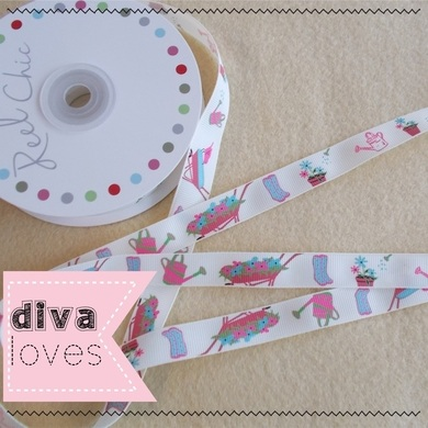 reel chic 16mm wide gardening ribbon diva crafts diva loves week 125