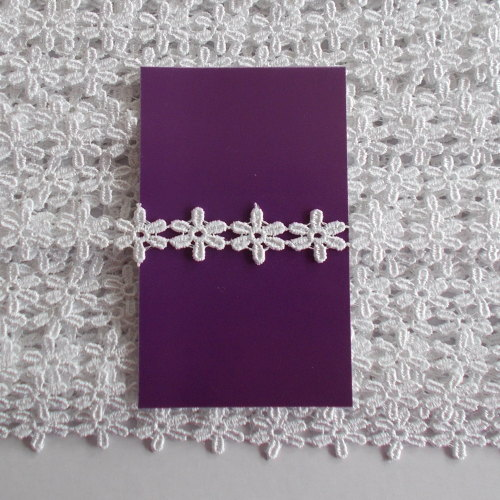 Guipure Lace Daisy Trim 1/2 Inch Wide - White