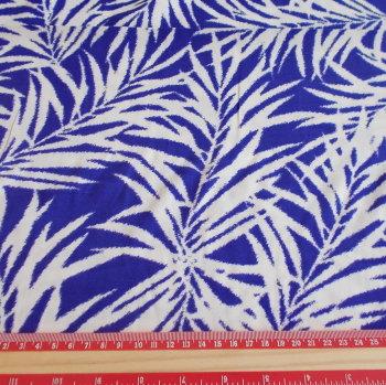 Violet Fern Viscose Fabric