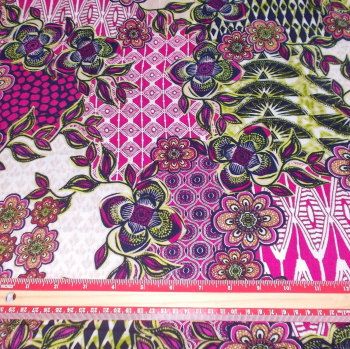 Multi Print Viscose Fabric