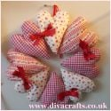 padded heart wreath diva crafts