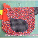 chicken peg bag Diva Crafts