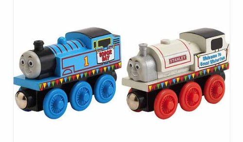 Stanley and Thomas on Sodor Day - Thomas Wooden