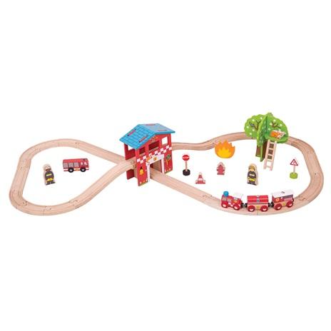 Fire Station Train Set - BigJigs