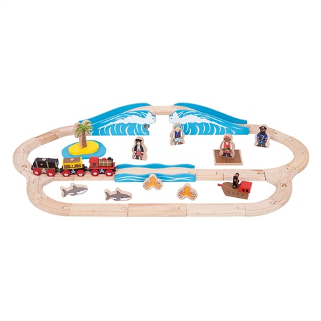 Pirate Train Set - BigJigs