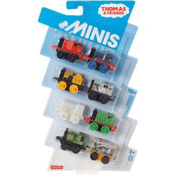8 Pk Minis - Classic James,Metallic Edward,Classic Stephen,Old School Salty,Classic Henry,Classic Luke , Robo Toby and Chillin Paxton - Thomas Mini