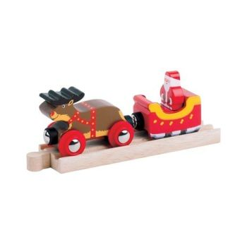 Santa Sleigh with Reindeer - BigJigs