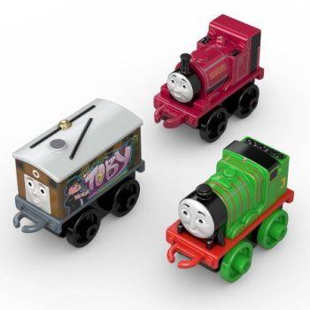 3 Pk Minis - Classic Skarloey , Graffiti Toby , Classic Henry - Thomas Minis