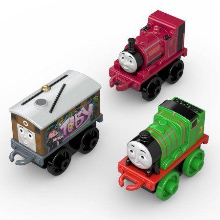 3 Pk Minis - Classic Skarloey , Graffiti Toby , Classic Henry - Thomas Mini
