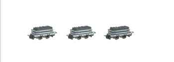 Set of 3  Narrow Gauge Slate WagonS w/ load (HOn30 Scale) - Bachmann Thomas and Friends