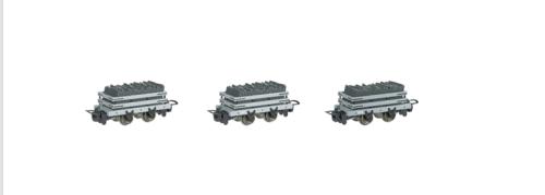 Set of 3  Narrow Gauge Slate WagonS w/ load (HOn30 Scale) - Bachmann Thomas