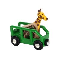 Safari Giraffe & Wagon  - Brio