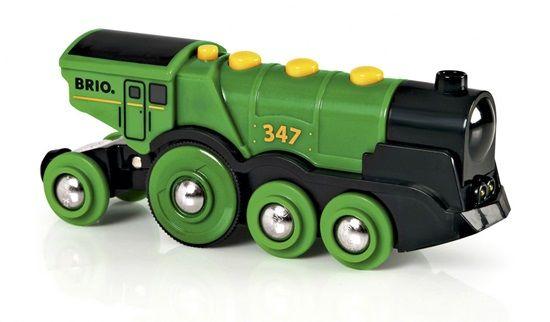 Mighty Action Locomotive Big Green   - Brio