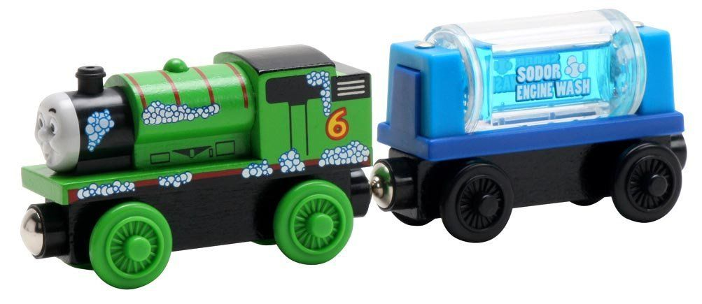 Percy & the Engine Wash Car - Thomas Wooden