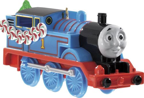 Thomas & Friends Tree Ornament features Thomas with peppermint garland by C
