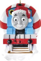 Thomas & Friends Thomas in Peppermint Candy Cane Tunnel Tree Ornament by Carlton 2014