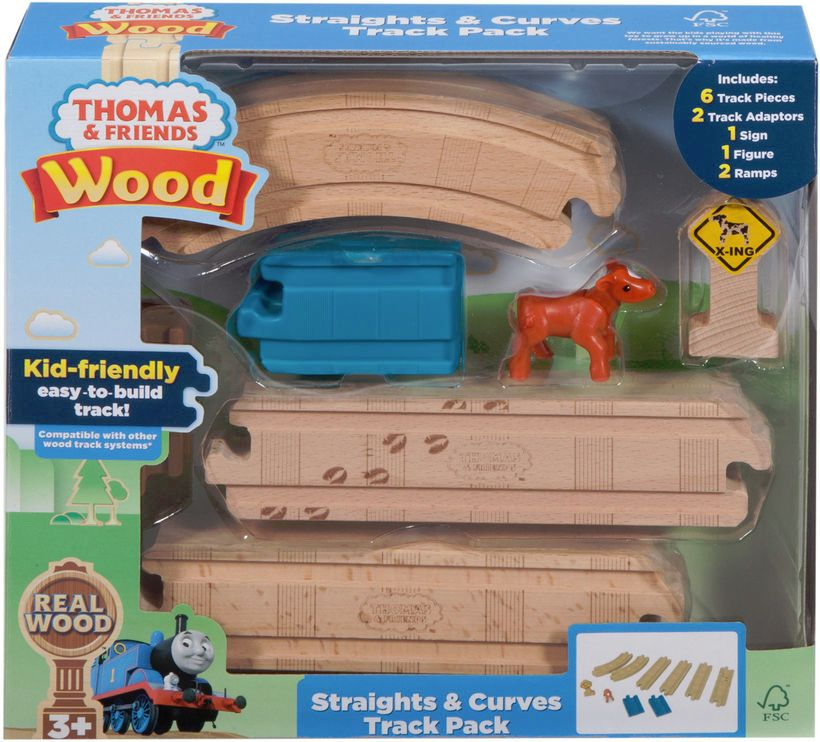 Straights and Curves Track Pack - Thomas Wood