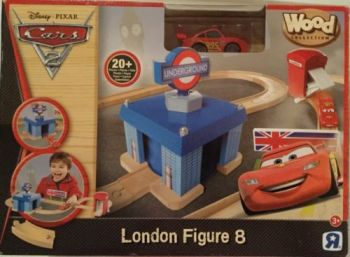 TRU Disney Pixar Cars London Figure 8 Set  - Cars Wood Collection