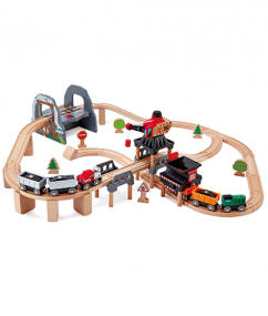 Lift and Load Mining Playset  - Hape Wooden Railway
