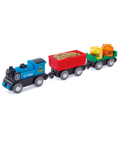 Battery Powered Rolling-Stock Set   - Hape Wooden Railway