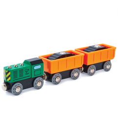 Diesel Freight Train - Hape Wooden Railway