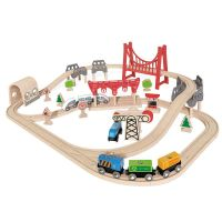 Double Loop Railway Set  - Hape Wooden Railway