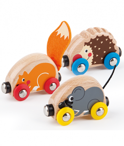 Tactile Animal Train - Hape Wooden Railway