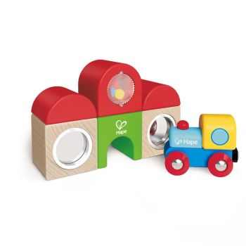 Station Building Block Set  - Hape Wooden Railway