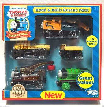 Road and Rails Rescue Pack - Thomas Wooden