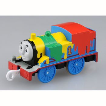 Paint Splattered Thomas - Plarail Tecolo de Ting!
