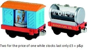 Sodor Circus Monkey and Oil Tanker - Take N Play