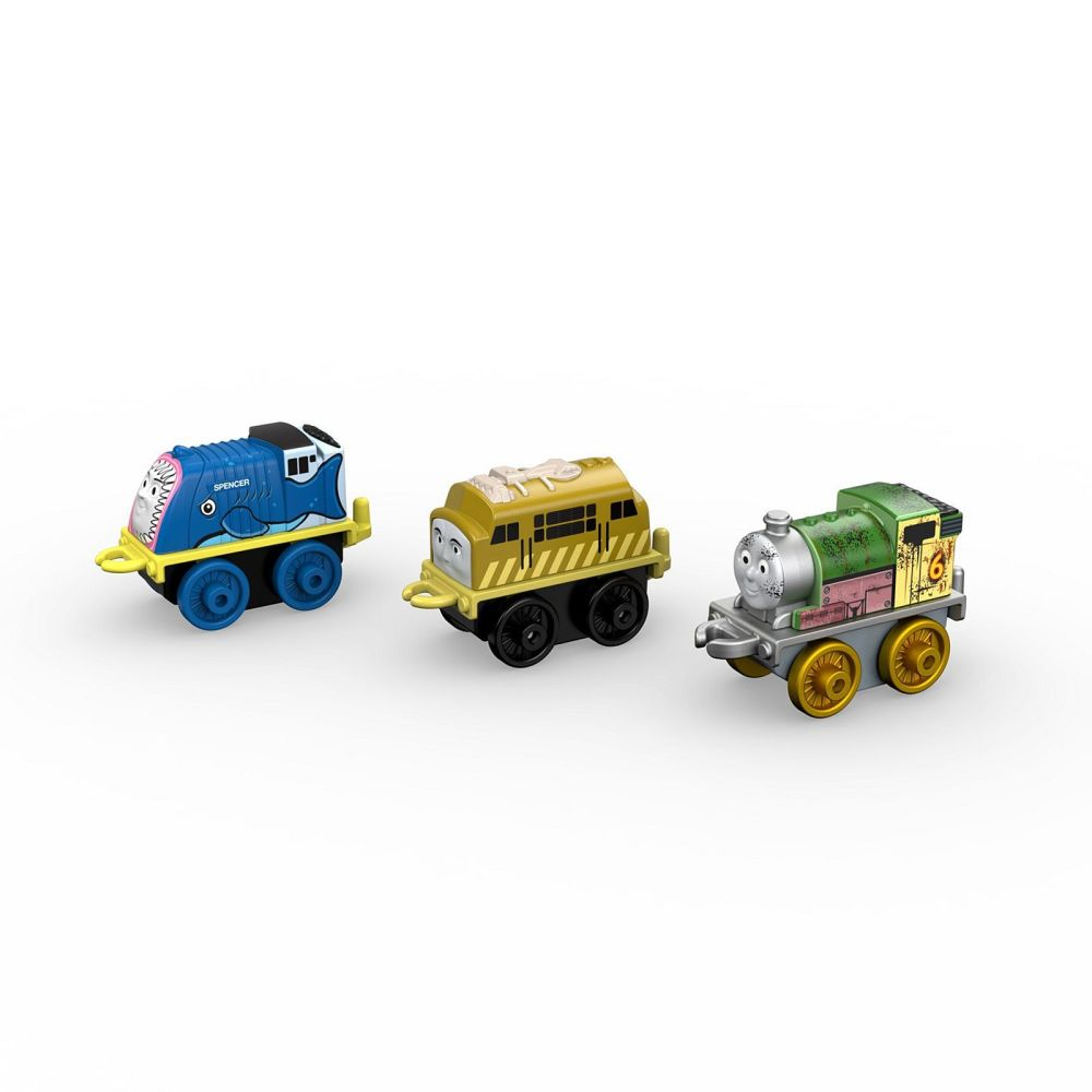 2017 3Pk Minis - Steelworks Percy , Aquatic Spencer , Diesel 10 - Thomas Mi