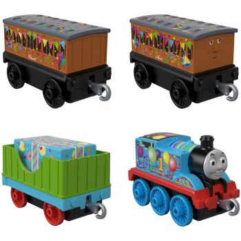 Thomas & Friends Celebration Time 4 Pk - Trackmaster Push Along