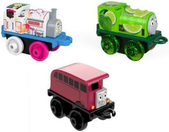 2018/19 3 Pack #2 - Neon Splatter Stanley,Lime Ben and Classic Bertie - Thomas Minis