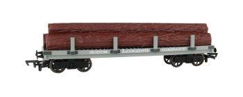 Sodor Logging Company Flat Wagon with Logs - Bachmann Thomas