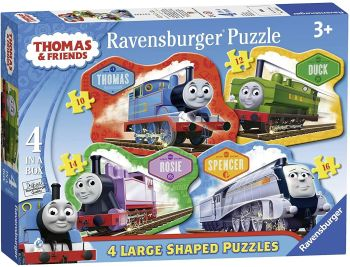 Thomas & Friends  4 in a Box Large Shaped Puzzles (10, 12, 14 & 16 pce)