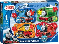 Thomas & Friends  4 in a Box Shaped Puzzles - Big World (4, 6, 8 &10 pce)