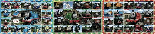 Thomas and Friends 3 Panel Panoramic Puzzle - 18/24/32 Pcs